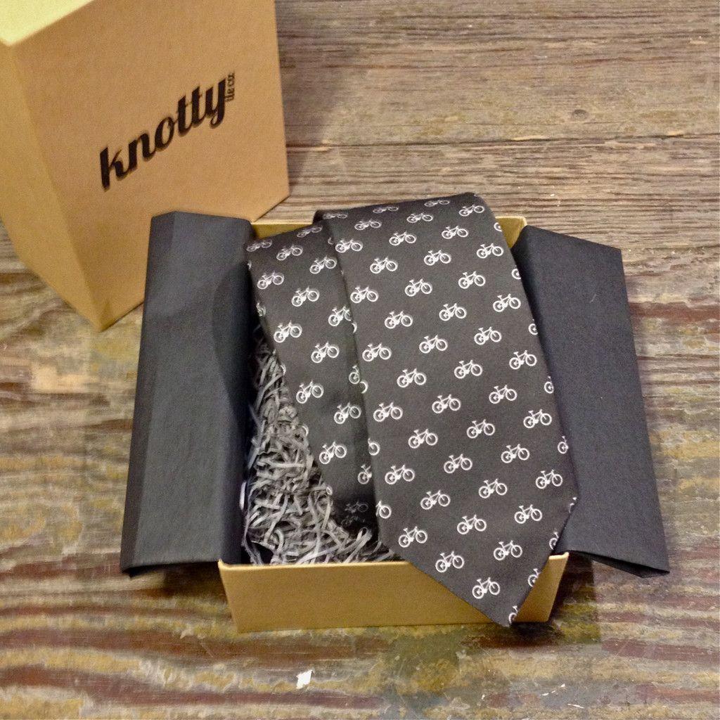 Bikes Necktie Knotty Tie Neck Tie Eco Friendly Fabric