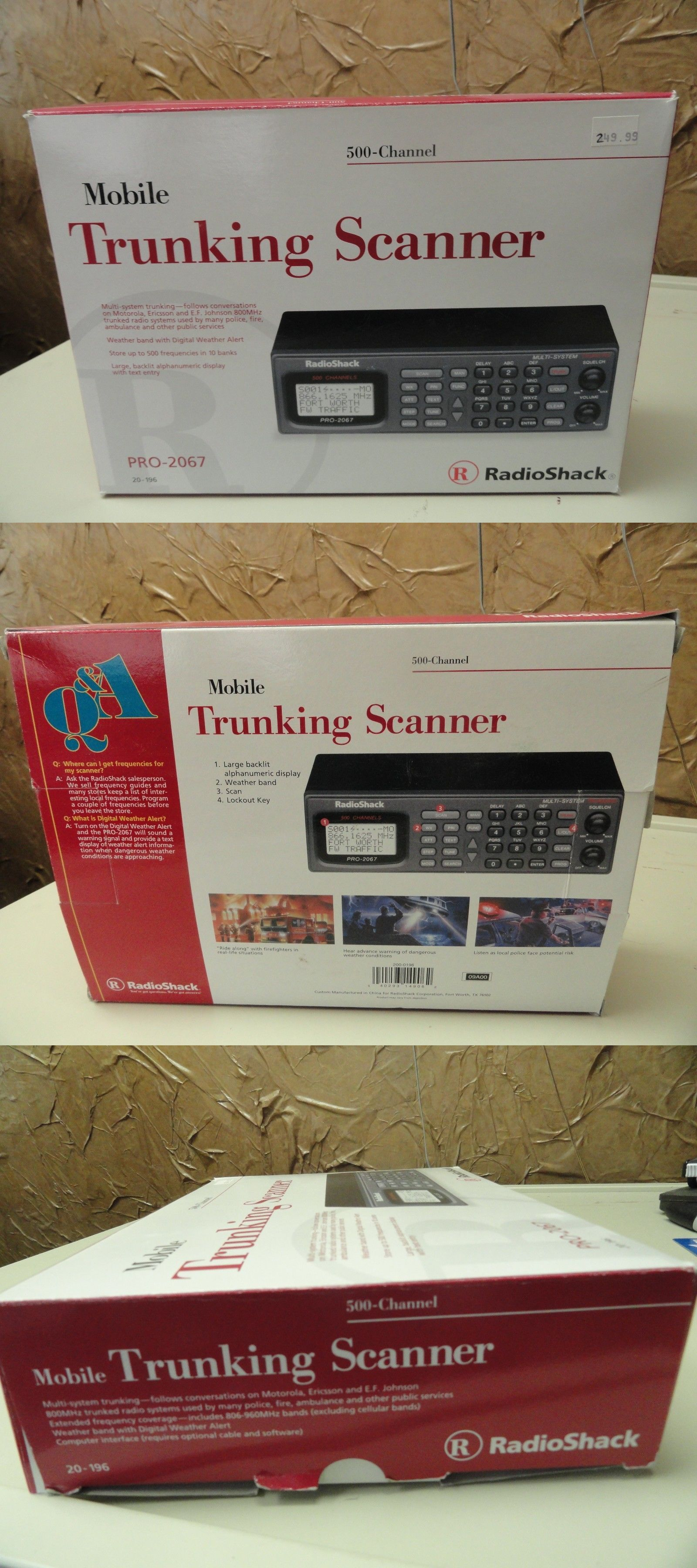 Scanners 500 Channel Mobile Trunking Scanner Radio