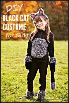 Diy Cat Costume For Kids Cat Costume Diy Kids Black Cat Costume