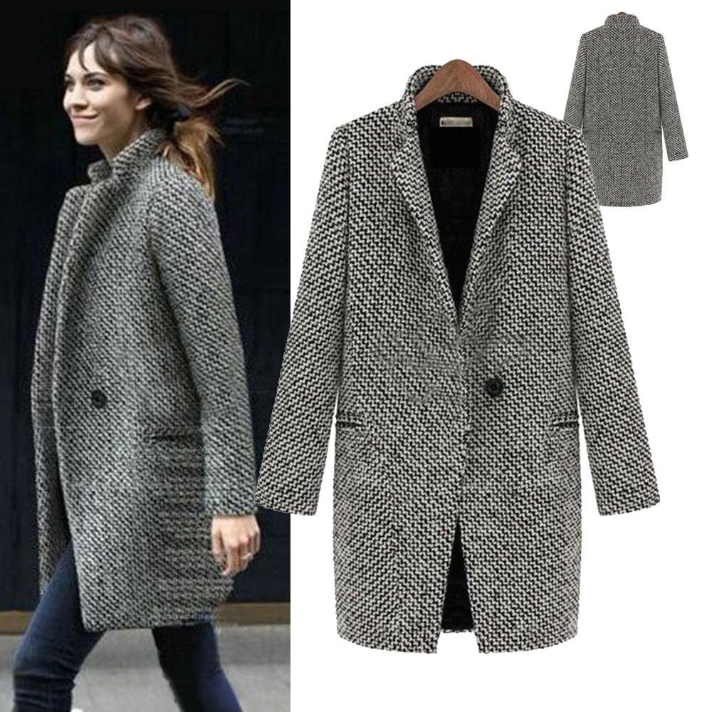 Fashion Tweed Jackets Ladies