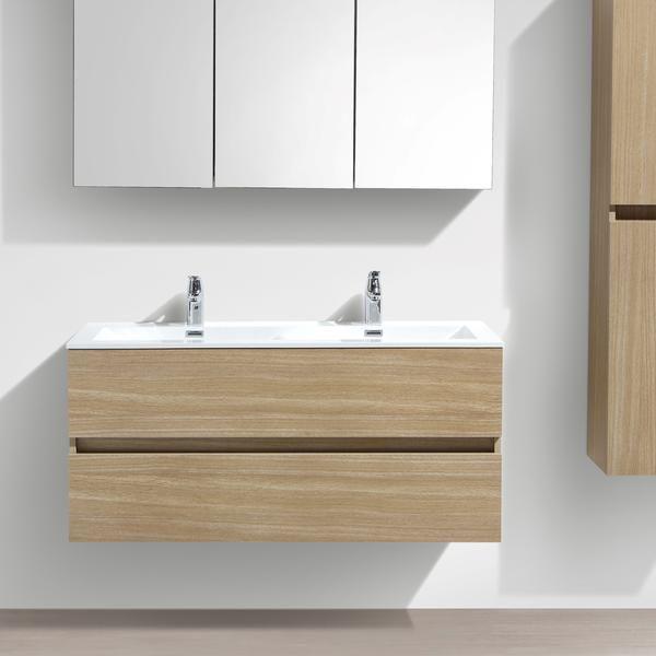 Meuble salle de bain design double vasque SIENA largeur 120 cm - Renovation Meuble En Chene