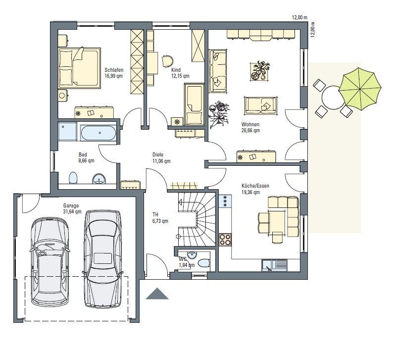 Fertiggarage grundriss  Bauplan Garage Massiv. Free Carport Massivholz Kampen Breite Cm ...