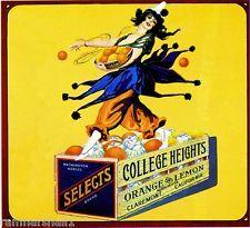 Claremont College Heights Mardi Gras Orange Citrus Fruit Crate Label Art Print