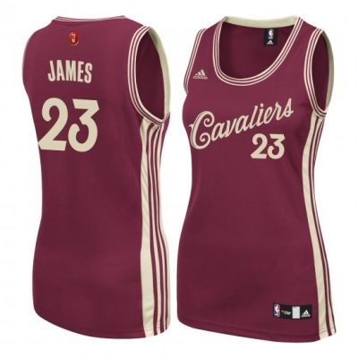 Women s Cleveland Cavaliers LeBron James adidas Burgundy Christmas Day  Replica Swingman Jersey e725ff40b