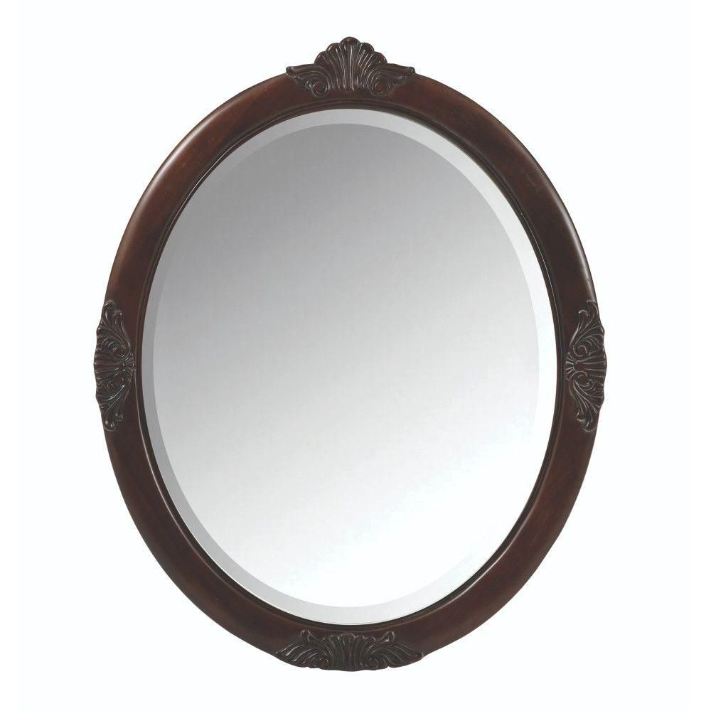 Home decorators collection winslow 22 in w corner linen - Home Decorators Collection Winslow 30 In W X 37 In H Single Framed Oval Mirror In Antique Cherry