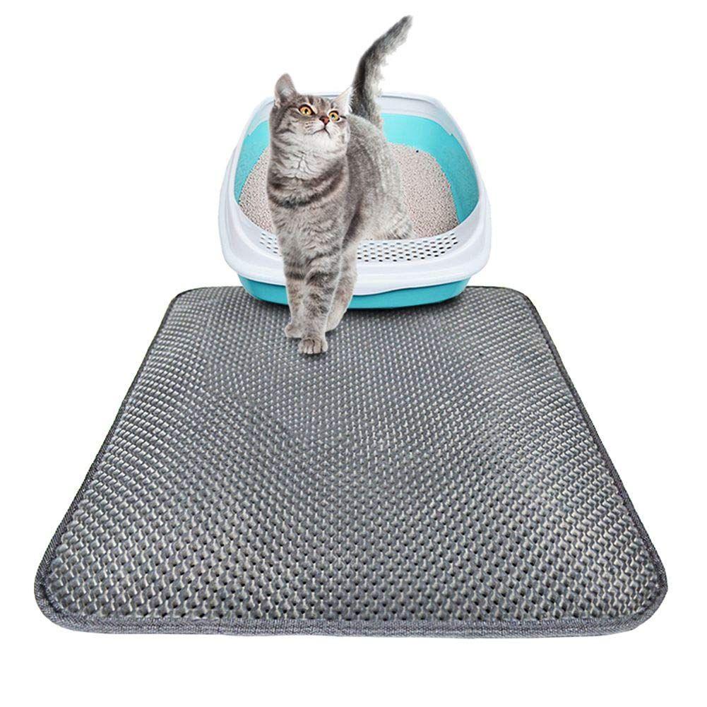 Yinrunx Pet Cat Litter Mat With Plaid Design Traps Messes Kitten Litter Mat Waterproof Litter Box Mat Cat Mat Kitty Litt Cat Litter Mat Cat Pad Litter Mat