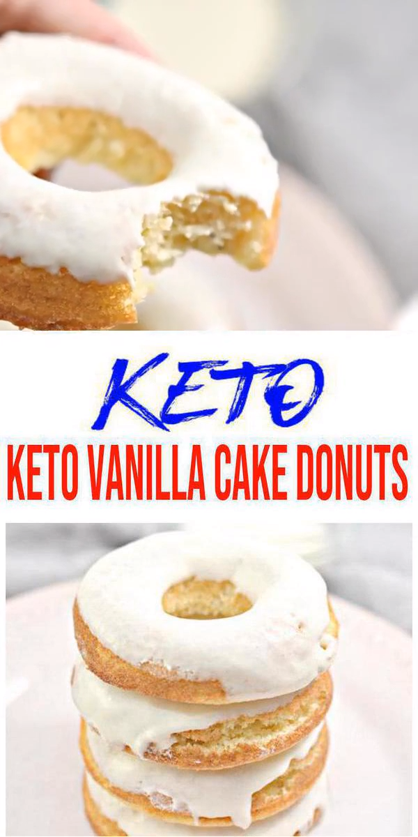 Best Keto Donuts – Super Yummy Low Carb Vanilla Cake Donut Recipe – Baked Glaze Donuts For Ketogenic Diet
