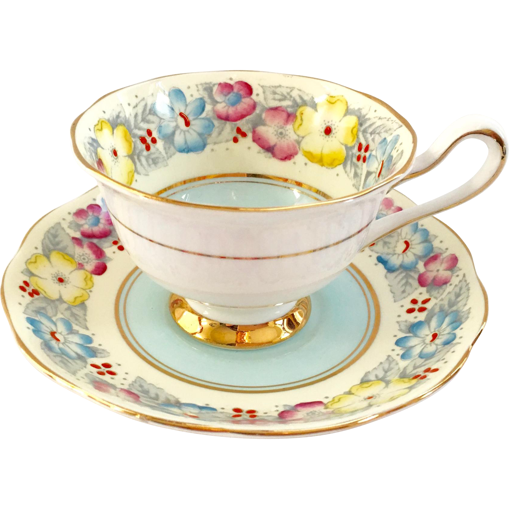 Royal albert bone china tea cup amp saucer winsome pattern ebay - This Lovely Royal Albert Bone China Teacup And Saucer Is In The Blue Variation Of The