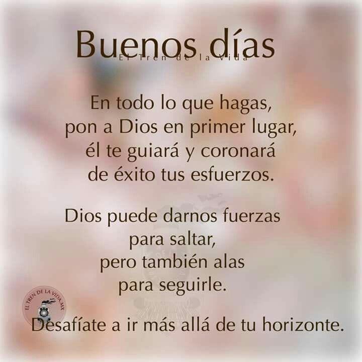 Gracias Dios Mio X Cuidarme Y Darme Tu Bendicion Dia A Dia Te Suplico Que Cuides A Toda Buenos Dias Cristianos Frases Buenos Dias Dios Oracion Para La Manana