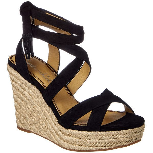 a44bb6eea14 Splendid Janice Suede Wedge Sandal ($90) ❤ liked on Polyvore ...