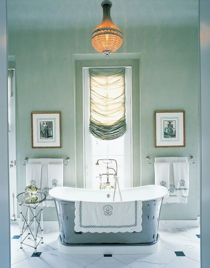Love the color and the feel of this bathroom.   by Branca, Inc.