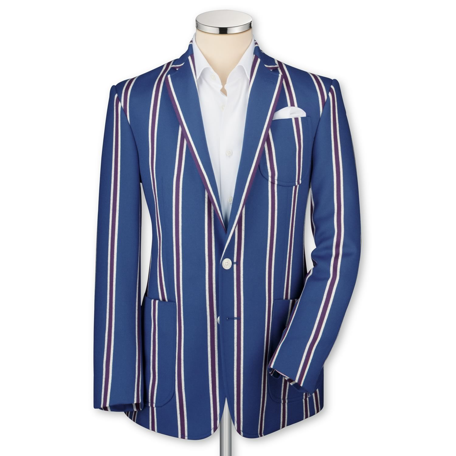 5246ccd7b89 Royal   purple tailored fit boating blazer