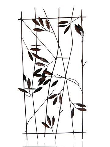 3d bamboo tea light metal wall art from earth homewares