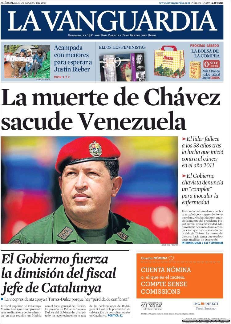 Los Titulares y Portadas de Noticias Destacadas Españolas del 6 de Marzo de 2013 del Diario La Vanguardia ¿Que le pareció esta Portada de este Diario Español?
