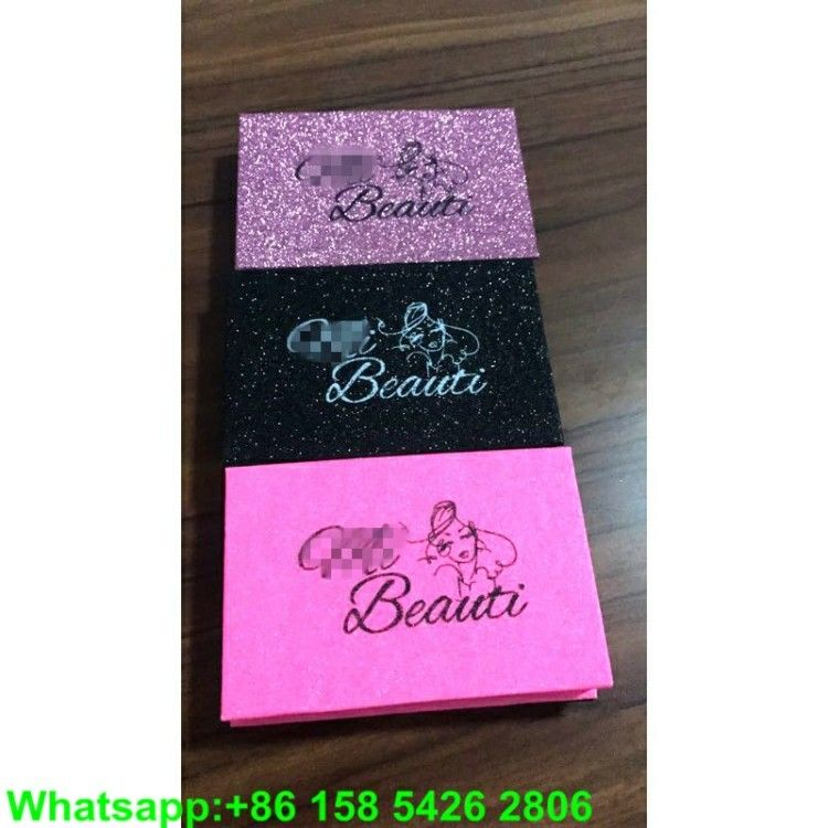 Wholesale glitter paper eyelash box custom design Lash packaging box