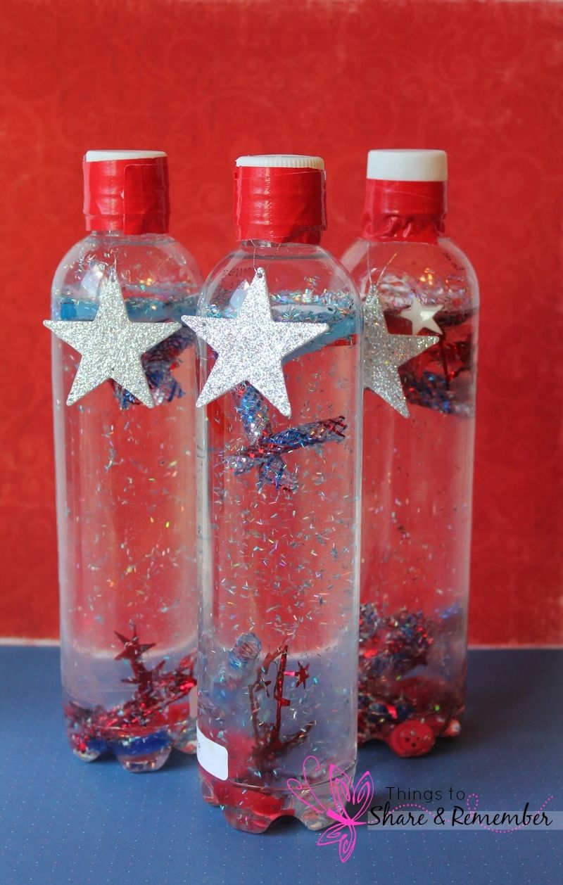 4th Of July Sparkle Bottles Pipes Bottle And Metallic