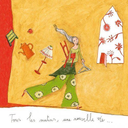 Anne Sophie Rutsaert Square Card 14 Cm Tous Les Matins Une Nouvelle Vie Art Carte Anne Sophie Art