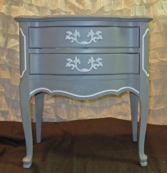 Simple gray french provincial dresser Modern - Fresh side table with drawer Top Design
