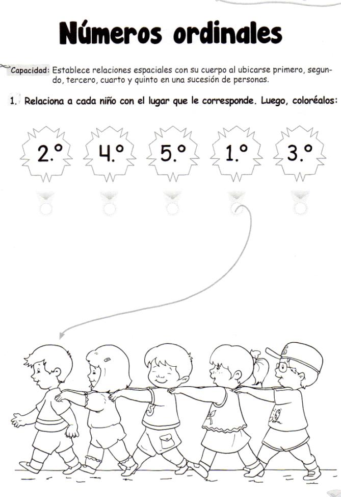 Números ordinales: 5 años - Material de Aprendizaje | okul ...
