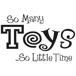 Wall Quotes-12b so many toys so little time (stickers jouets)