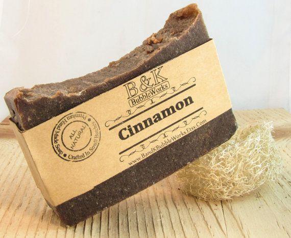 Cinnamon Soap by BandKbubbleworks on Etsy, $4.50