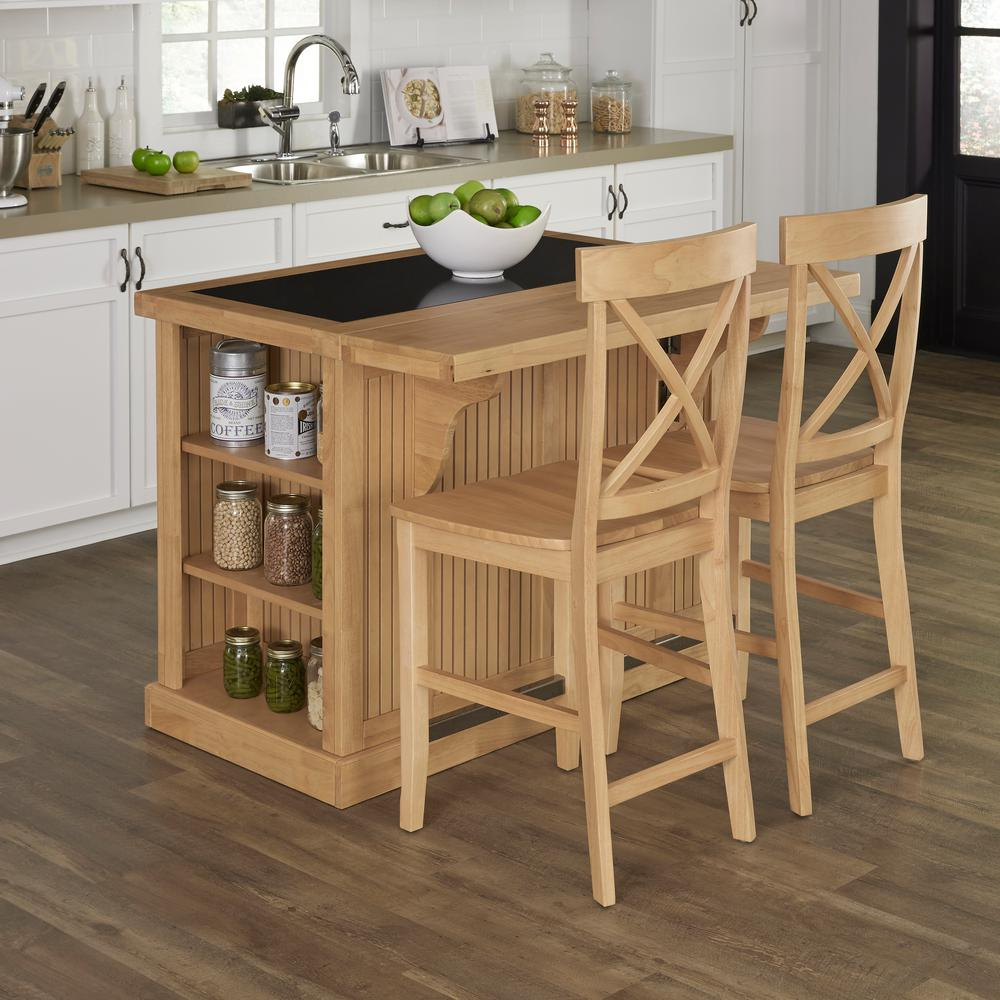 Home Styles Nantucket Maple Kitchen Island With Seating 5055 948
