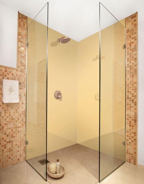 Beige-m acrylic colour shower panels | Bathroom decor ideas ...
