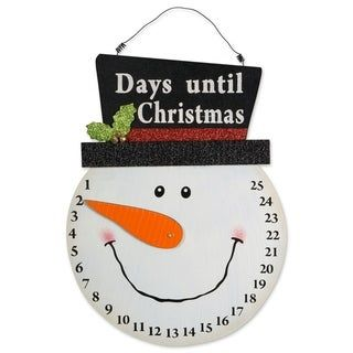 Dii Hanging Christmas Decorations Wood Snowman Countdown Black Christmas Hanging Decorations Christmas Countdown Calendar Christmas Countdown