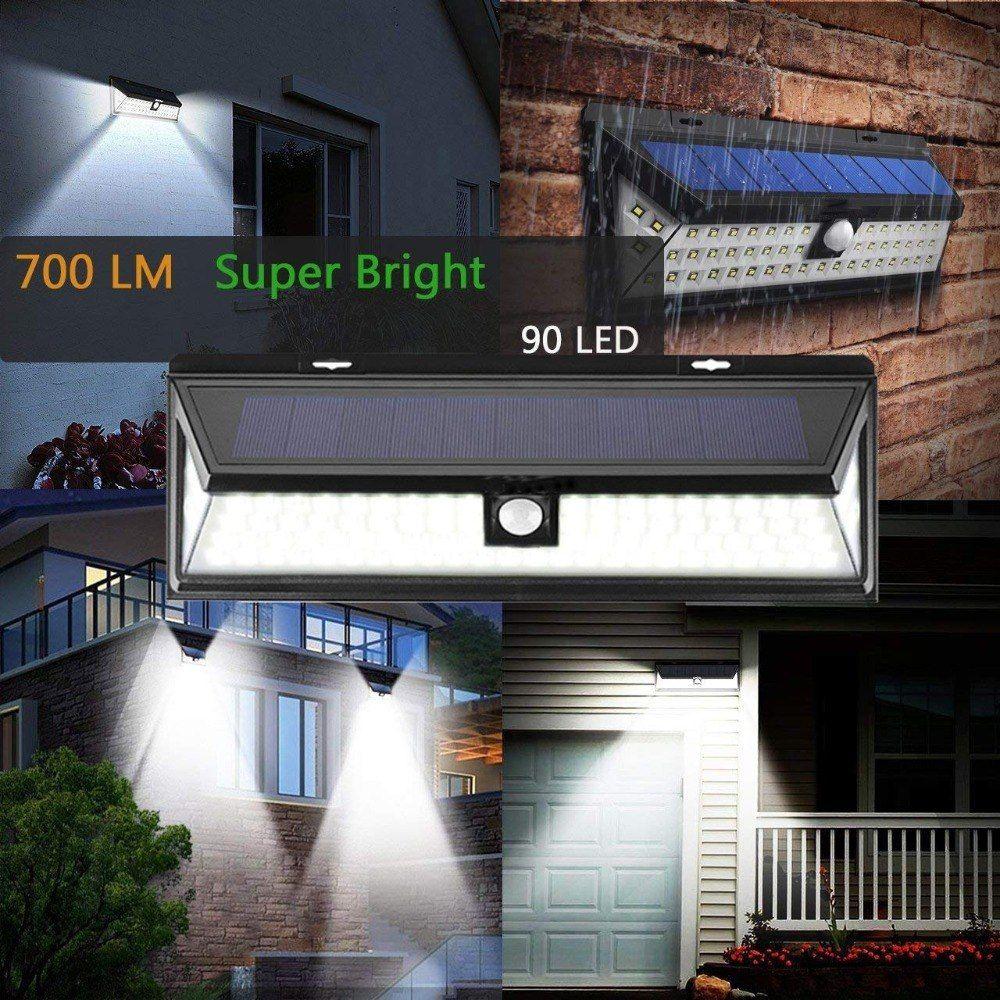 Elegant 44/90/118 Led Solar Light Outdoor Waterproof Motion Sensor SMD 2835 IP65 Lighting  Decor Garden Light Solar Powered Security Lamp