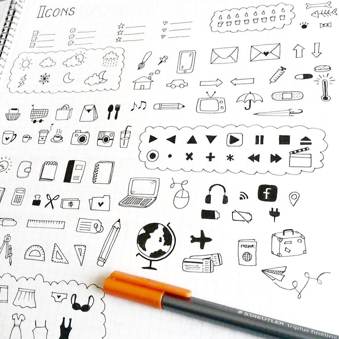 Pin by Candsam on Bullet Journal Bullet journal doodles