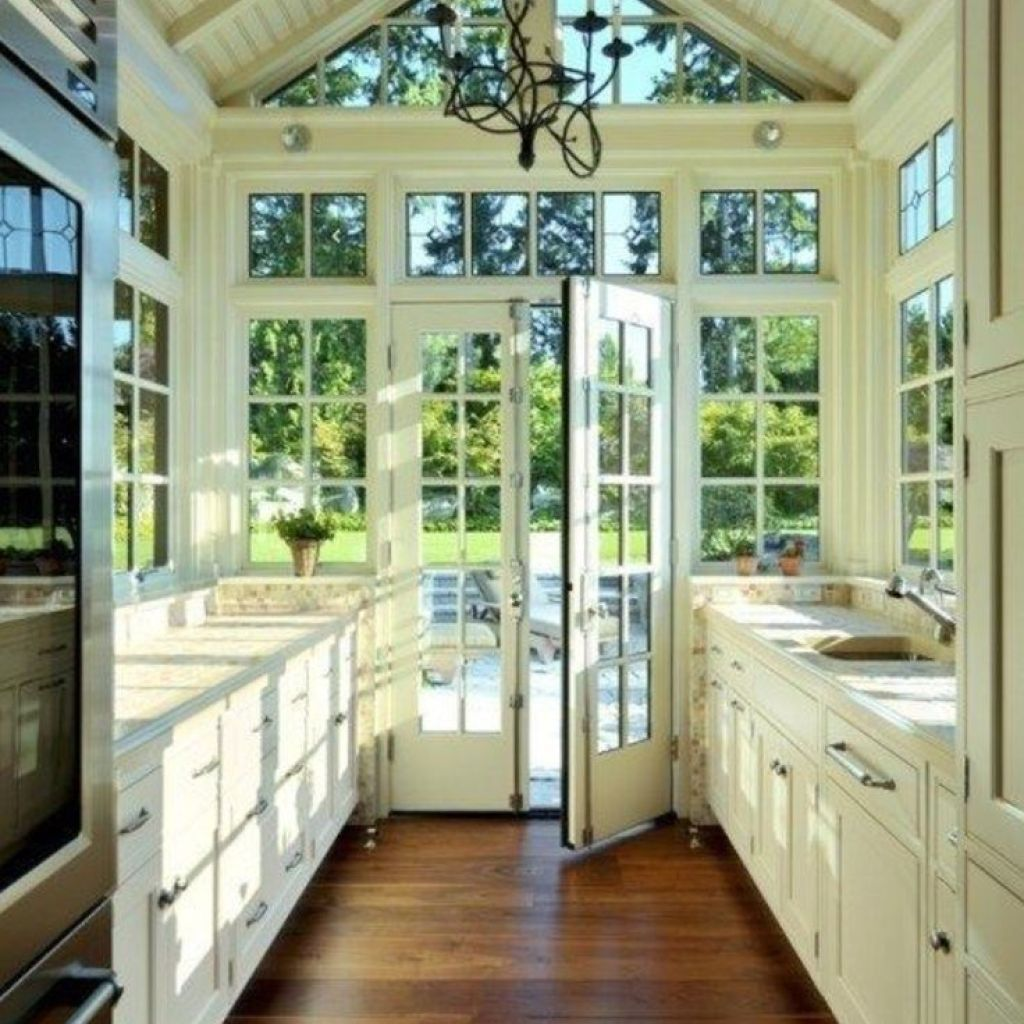 Greenhouse Inspired Kitchens Lots Of Windows And Light My