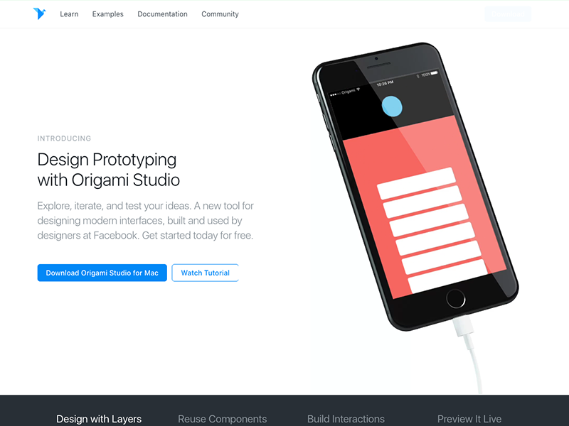 Origami Studio Websites Landing Pages Design Pinterest Origami