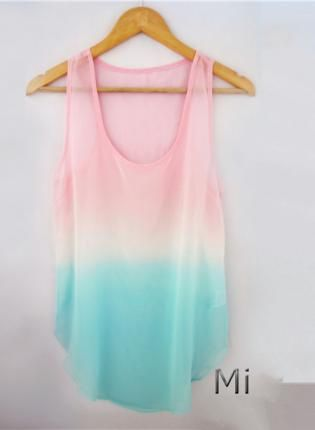 ef825ca69880b Cute Tie Dye Tank Top In Pink in 2019