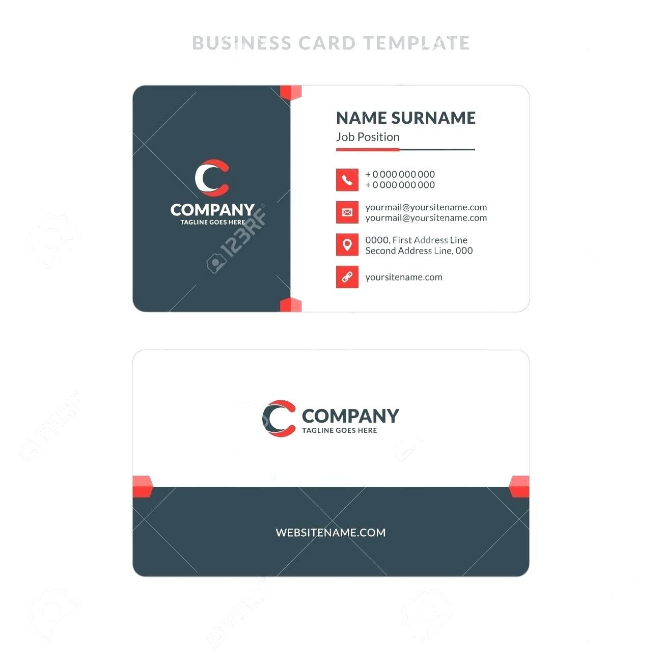 The Outstanding 015 Double Sided Business Card Template Illustrator Best Of Thro Illustration Business Cards Double Sided Business Cards Business Card Template