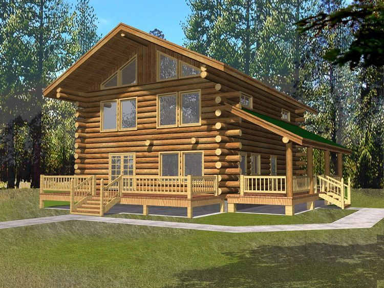 Hpm Home Plans Home Plan 001 1065 Cottage Style House Plans Log Home Plans Vacation House Plans