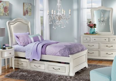 Sofia Vergara Kayla White 5 Pc Full Panel Bedroom ...