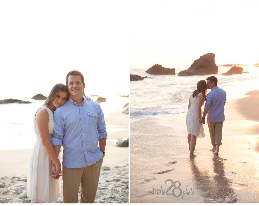Laguna BEAch Engagement session... Love the California golden light!