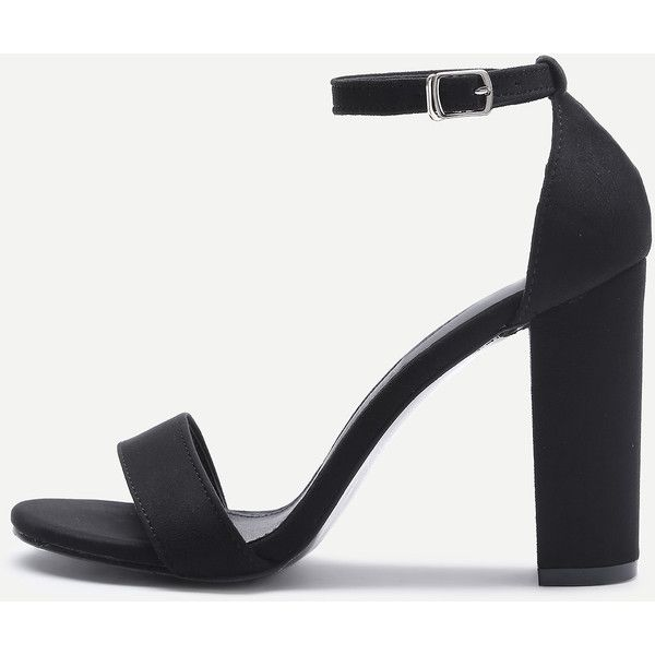 Two Part Block Heeled Sandals (27 PAB