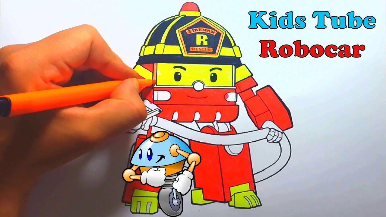 Robocar Poli Itfaiyeci Roy Boyama Painting Entertainment Itfaiyeciler