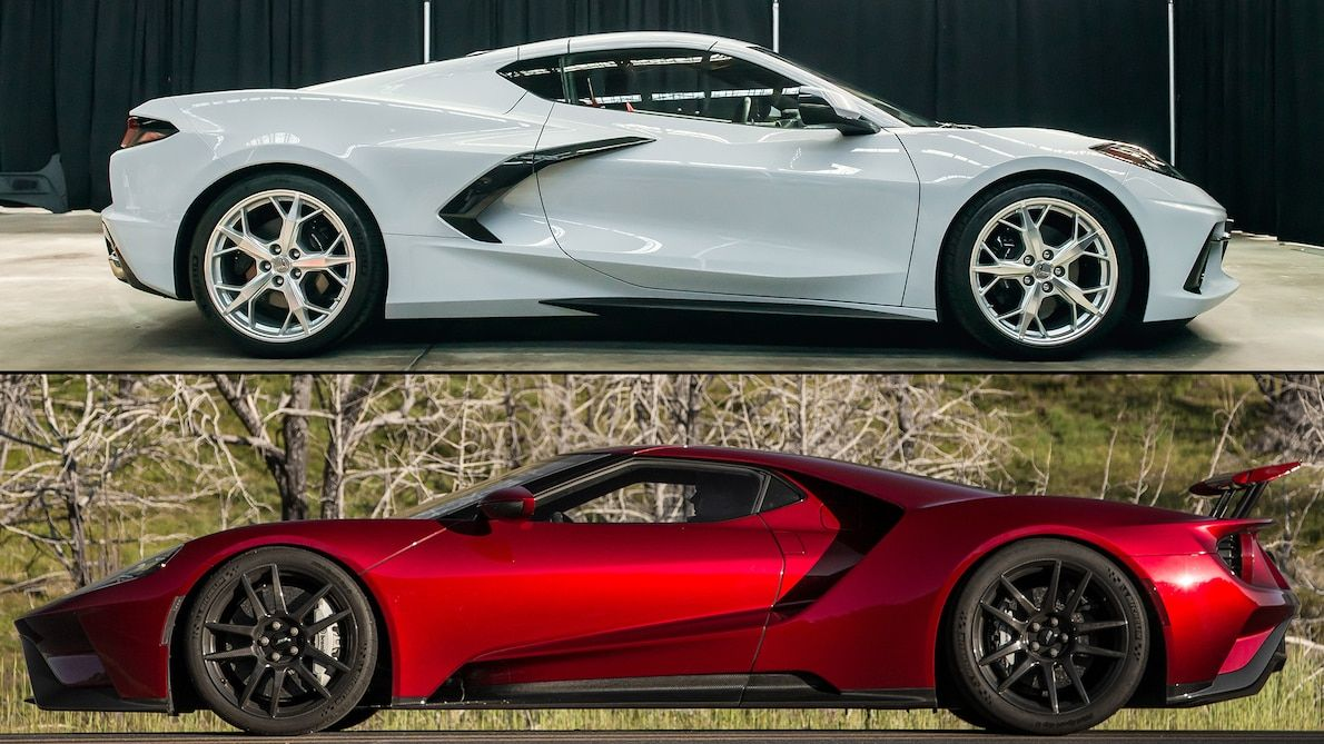 2020 Chevrolet Corvette Stingray Vs Ford Gt A Specs Comparison