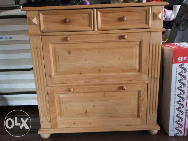 Komoda Szafka Na Buty Surowa Sosna Duza Wym 98x96x40 Cm Home Decor Armoire Furniture