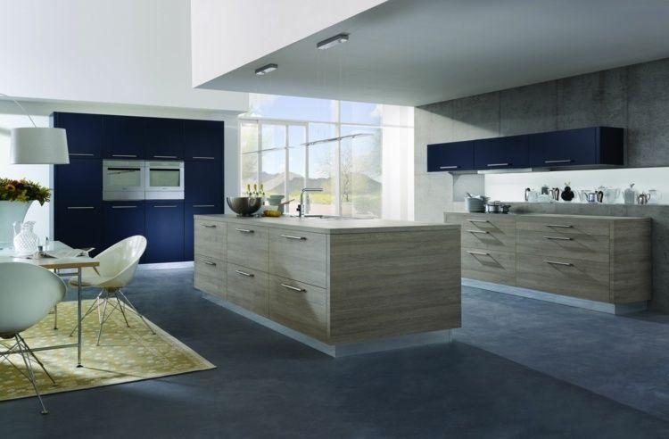 Cucina Blu Moderna.Cucina Blu Decorazione Moderna Con Tocchi In Blu Visione