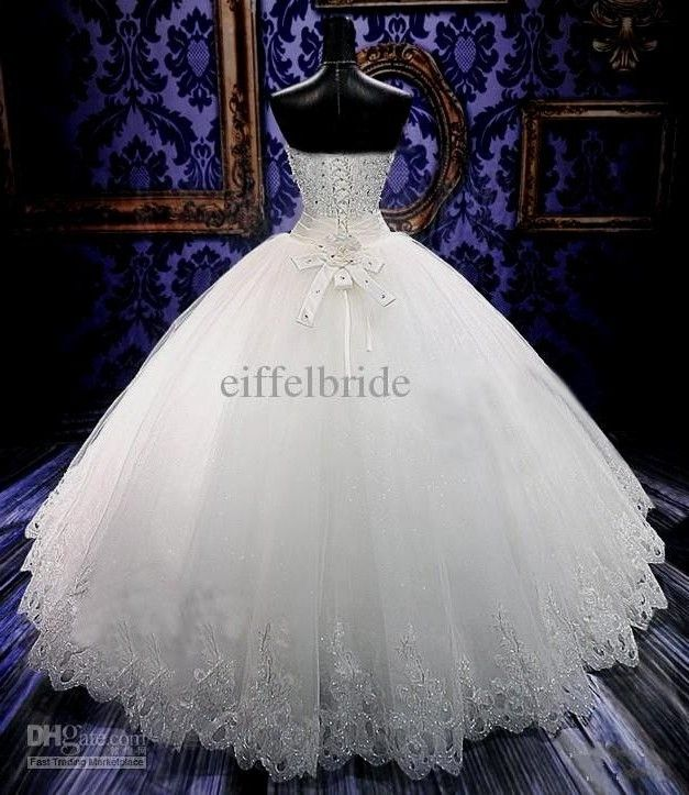 Bling Bling Real Crystal Beaded Wedding Dresses 2014 Online with ...