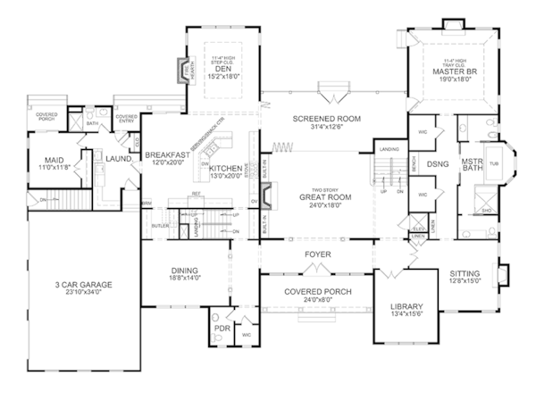 Traditional Style House Plan 6 Beds 7 5 Baths 5789 Sq Ft Plan 314 295 House Plans Floor Plan Design Floor Plans