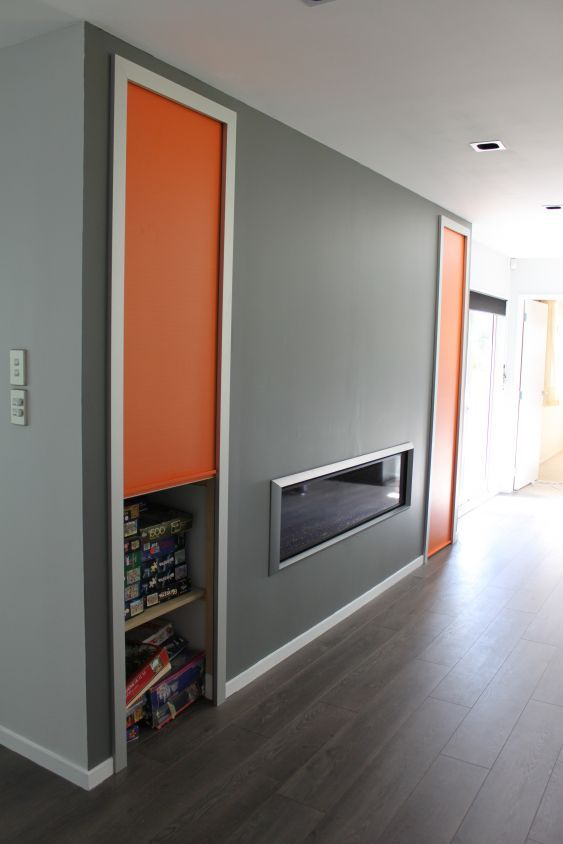 Use A Colourful Roller Door For A Game Cupboard In Your