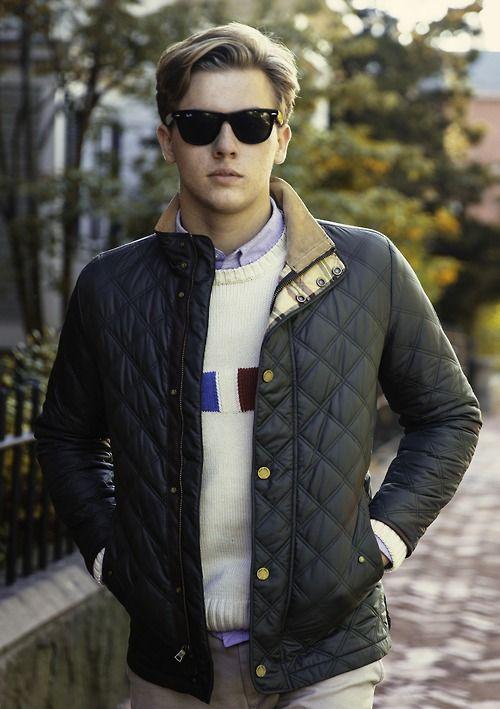 Men's Navy Quilted Bomber Jacket, White Print Crew-neck Sweater ... : navy quilted bomber jacket - Adamdwight.com
