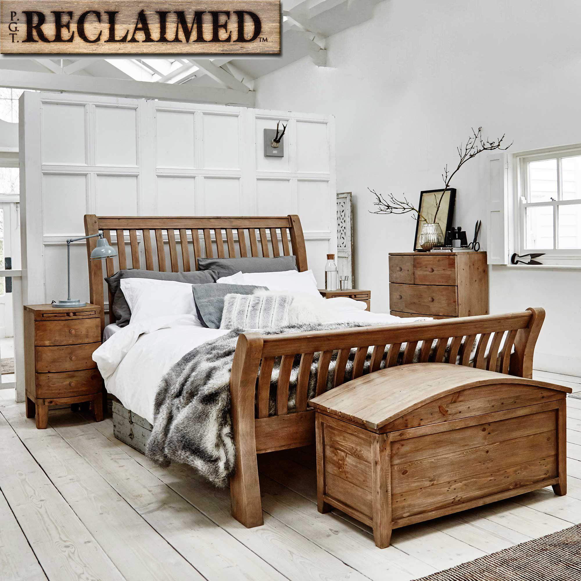 Lewes Reclaimed Wood Wardrobe, Wheat | Bedsides | Bedroom #DreamStoryHome
