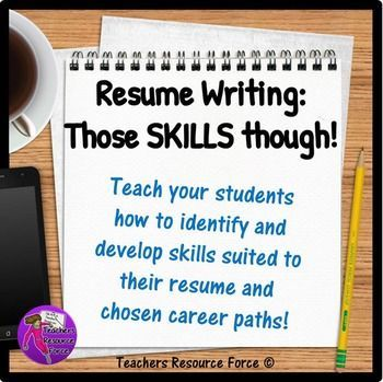 Resume Writing Help for Teens All About Job Skills Worksheets - teenage resume