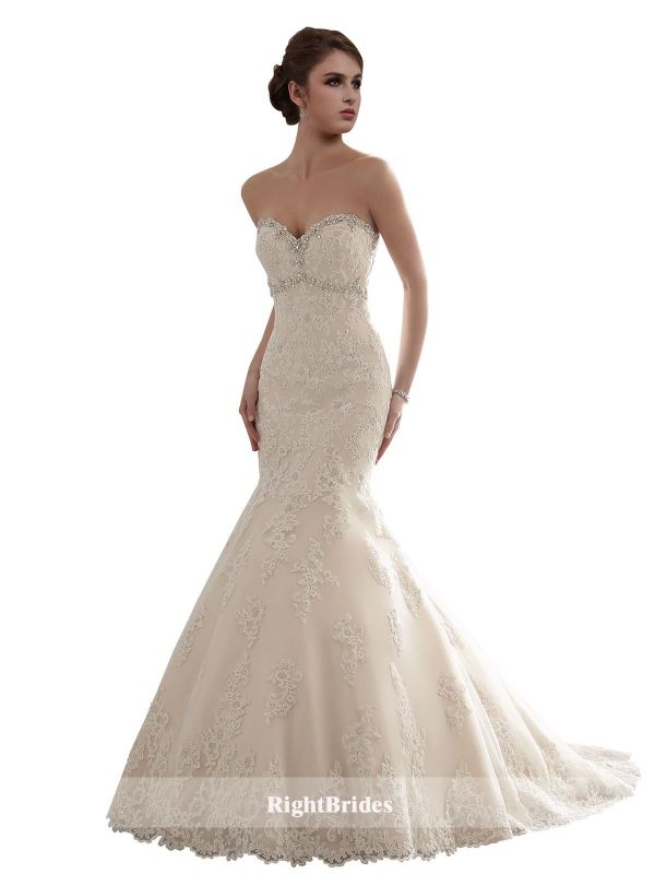 Brides Perth | Shop 2018 Mermaid Sweetheart Chapel Train Sleeveless ...