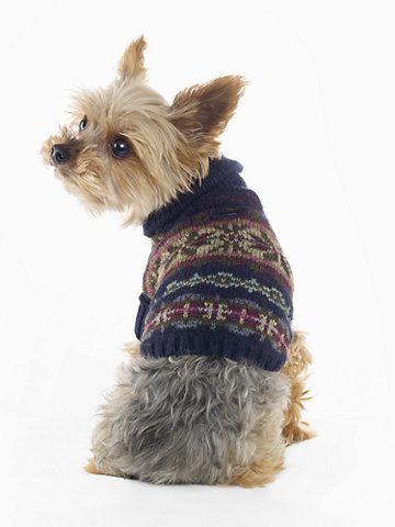 Fair Isle Dog Sweater - For the Pet Home - RalphLauren.com ...